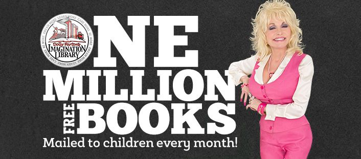 Dolly Parton's Imagination Library. Sign up your child and from ages 0-5, they are mailed an age appropriate book every month. No gimmicks. Dolly just wants every child to be able to have books. ❤️📚