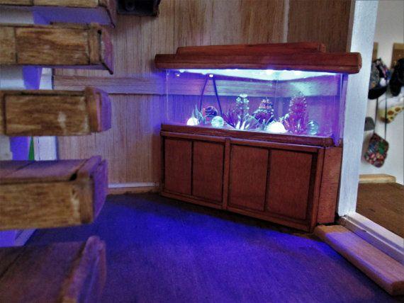 Custum made miniature aquarium Corner aquarium by LeftyCreationz
