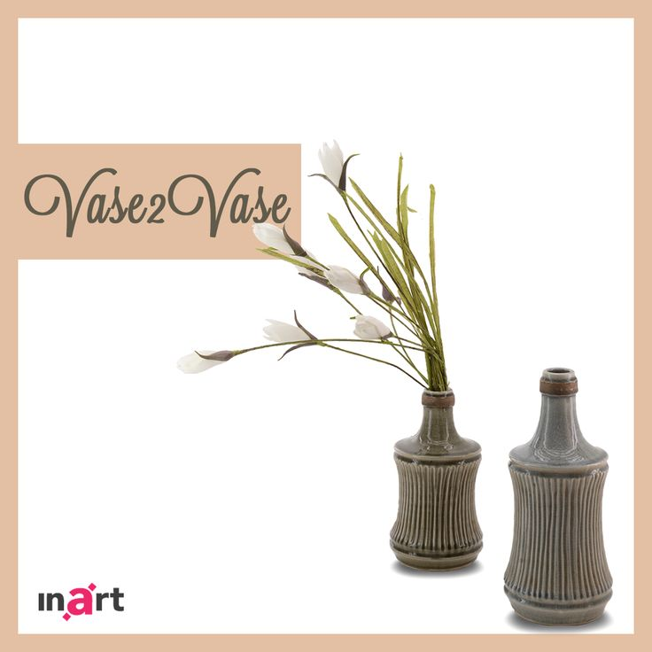 It's spring! Time to bring some flowers! Which vase would you put them into? Olive or grey? http://bit.ly/vaseolive http://bit.ly/vasegrey #inart
