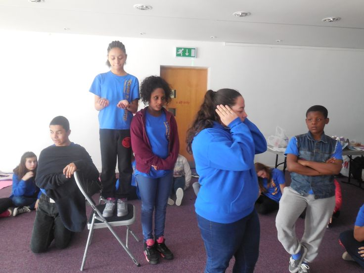 Y&T Teens rehearsing for the music video on the Rights of a Child.