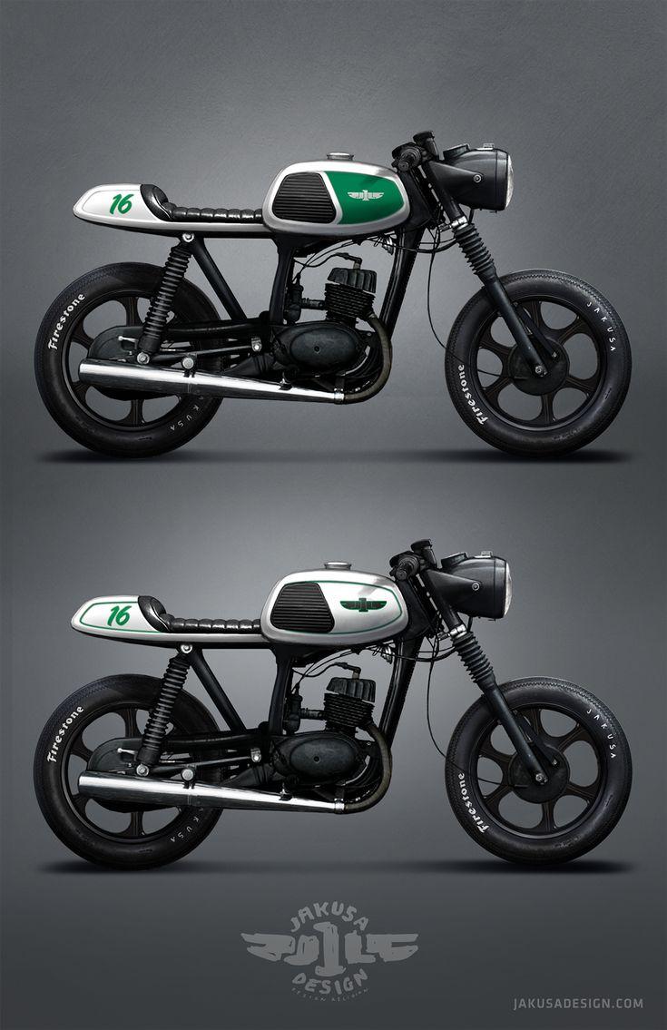 MZ TS 150 Cafe Racer on Behance