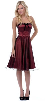 The Vicky Maroon Tulle Dress - valentine's day dress.