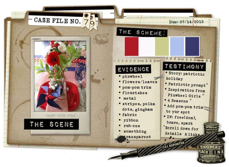 Case File No. 79 {Case closes on July 14, 2013} - CSI: Color, Stories, Inspiration