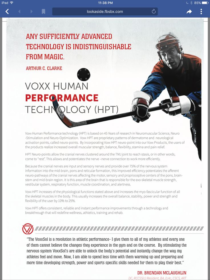 Voxx is not only great for pain and wellness it's great for the that person looking to improve there game.