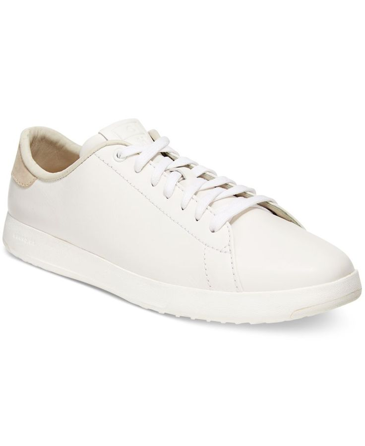 Get sleek, sporty style with the clean lines and classic fashion of Cole Haan's Grand Pro Tennis sneakers. | Smooth leather/suede upper; rubber sole | Imported | Round closed-toe lace-up flat sneakers