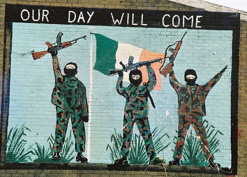 Pro IRA graffiti in Northern Ireland