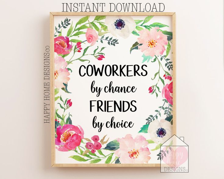 Coworker gift coworker printable coworkers by chance