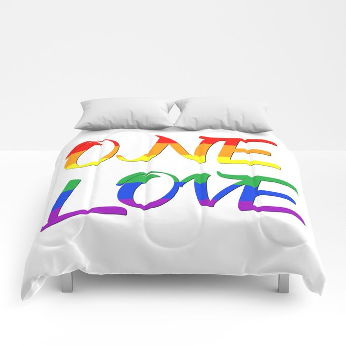 Buy One Love Comfortersby Scar Design. #typographic #onelove #lgbt #pride #couples #popular #valentine #romance #pop #rainbow #popular #colorful #life #love #loveislove #gay #lesbian #trans #home #homedecor #pride #festiival #pride #cool #awesome #valentinesdaygifts #valnetinesday #family #onlineshopping #giftsforhim #giftsforher #society6 #style #design  #39 #gaypride #lesbianpower #feminist #march #gayhome #homegifts #gaydads #lesbianmoms #comforter #shopping