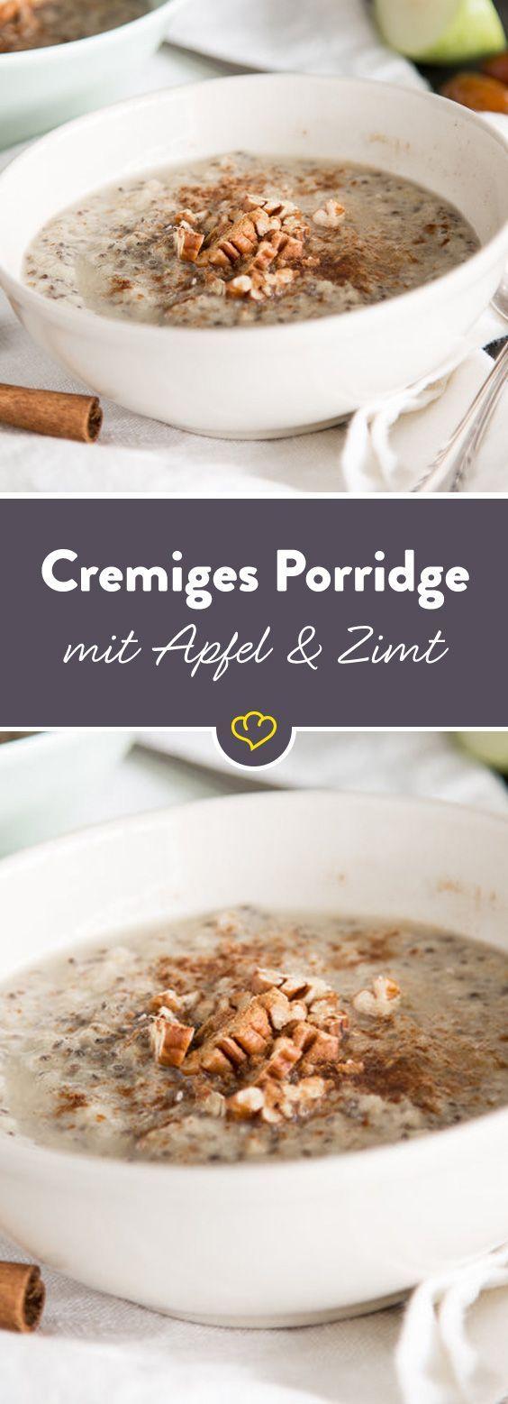 Apfel und Zimt? Das Dream Team schlechthin. Datteln, Chiasamen, Pekannüsse und so weiter   – Gesundes Frühstück – Start your day right!