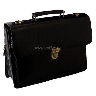 Мужской портфель с папкой для ноутбука и бизнес-блоком  Dr.Koffer P402432-59-04 фото 1