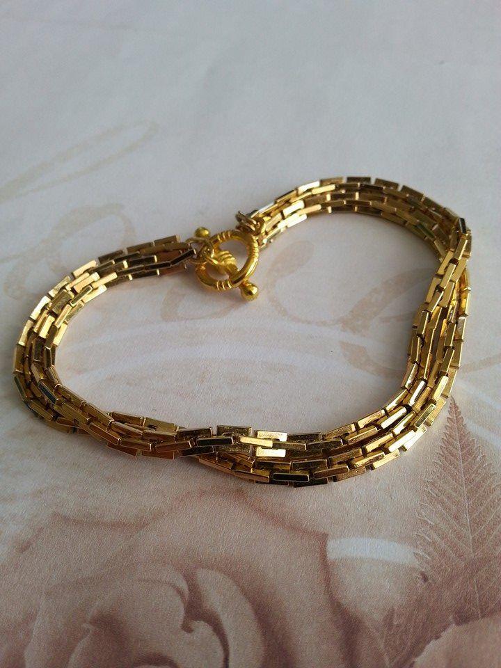 Double gold tone bracelet