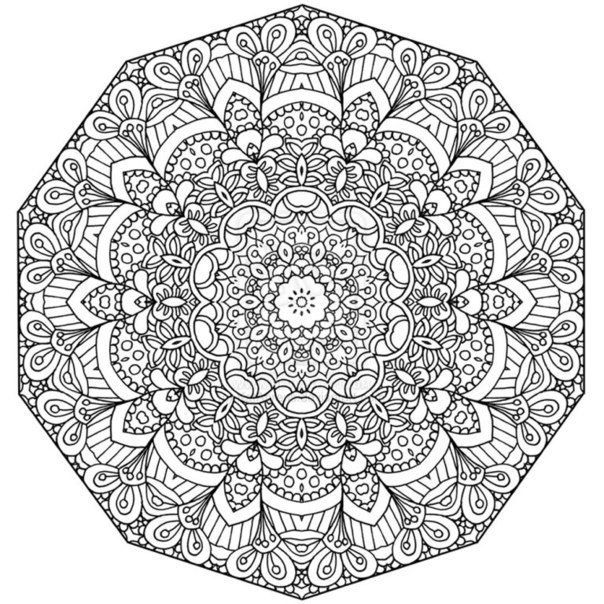 mandala coloring pages of sunday - photo#8