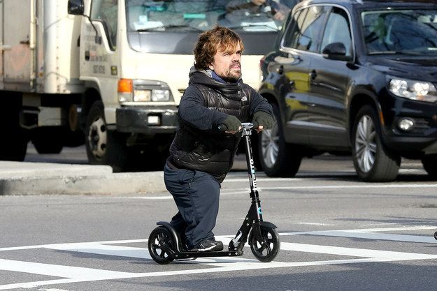"""And then riding a razor scooter: 