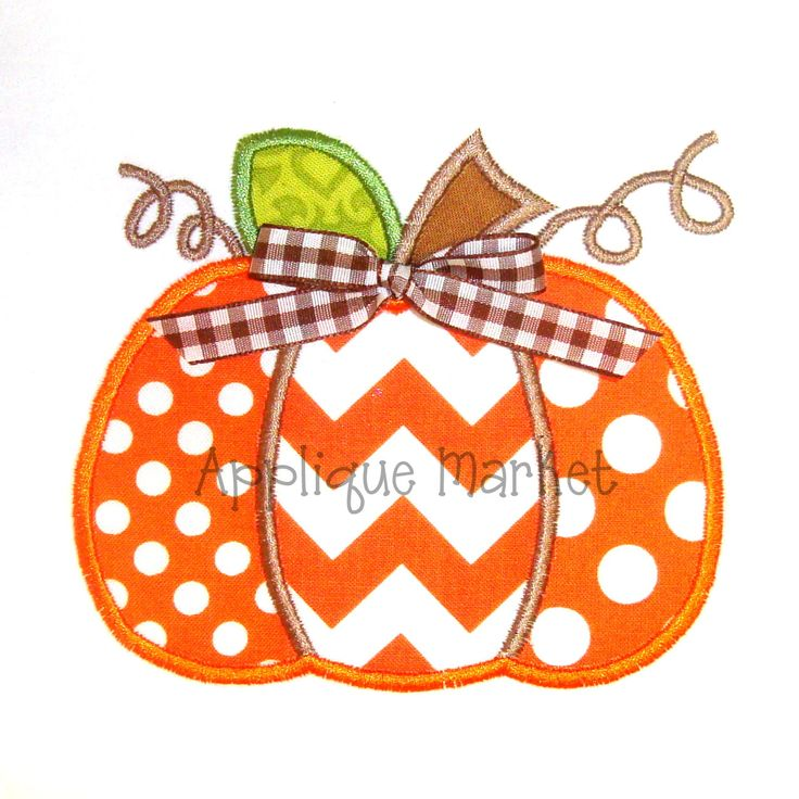 Machine Embroidery Design Applique Pumpkin Three Fabrics INSTANT DOWNLOAD by tmmdesigns on Etsy
