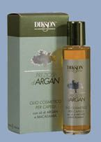 DIKSON Argan & Macadamia Hair (capelli) Oil - Ideal for all hair types, non-greasy and leaves no residue. It absorbs instantly for deep hydration and nourishment, leaving your hair shiny and soft, free from frizz. Argan oil, rich in vitamin E (natural antioxidant), strengthens the hair and has anti-aging function. The Macadamia oil has soothing and nourishing properties. Contains UV filter.