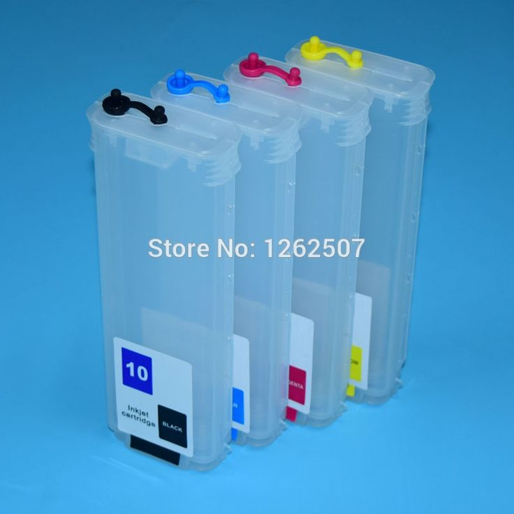 29.68$  Buy now - http://alig5p.shopchina.info/go.php?t=32615701160 - Empty refill cartridge For HP 10 82 printer ink cartridge For HP Designjet 500 800 500ps 800ps with individual ARC chip  #aliexpress