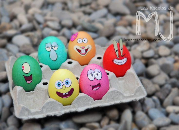 "Huevos de pascua ""Bob Esponja"""