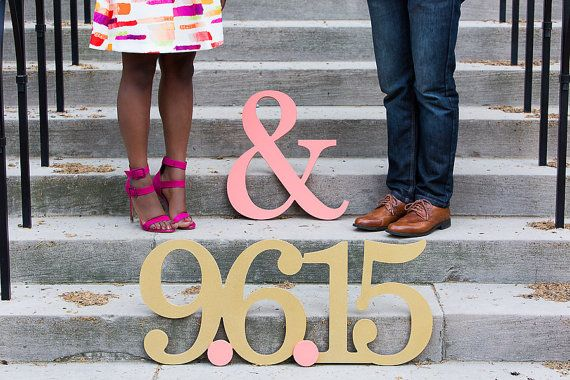 Engagement Photo Prop Sign for Save The Date by ZCreateDesign