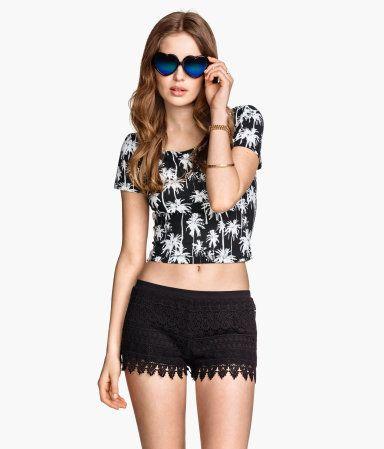 Lace Shorts | H&M US - $24.95