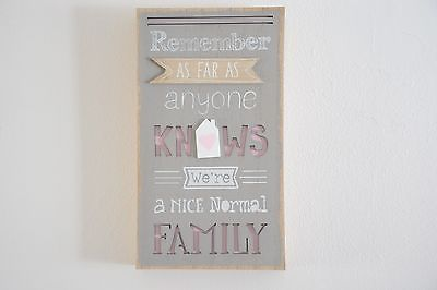 3D Nice Normal Family Humour Wall Plaque Wooden Art Hallway Picture Living Room