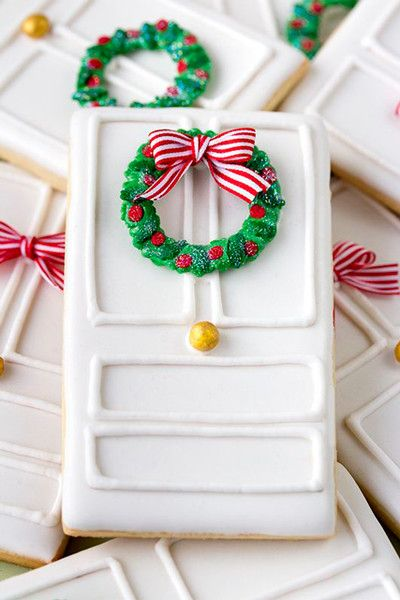 Christmas Door Cookies - Christmas Cookies That Are Almost Too Pretty To Eat - Photos