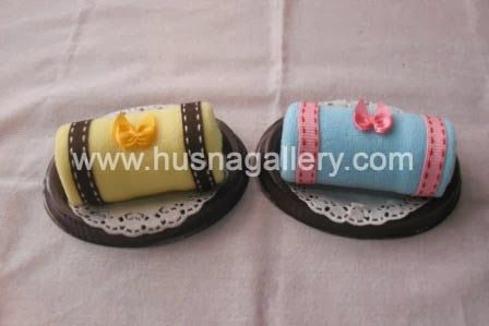 souvenir pernikahan, souvenir ulang tahun, Towel Cake Roll Oval Pita, murah dan unik