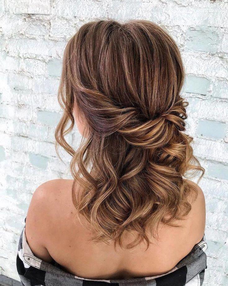 39 Gorgeous Half Up Half Down Hairstyles Braid Half Up Half Down Hairstyles Partial Updo Hairstyle Brida Half Up Hair Medium Hair Styles Wedding Hair Half