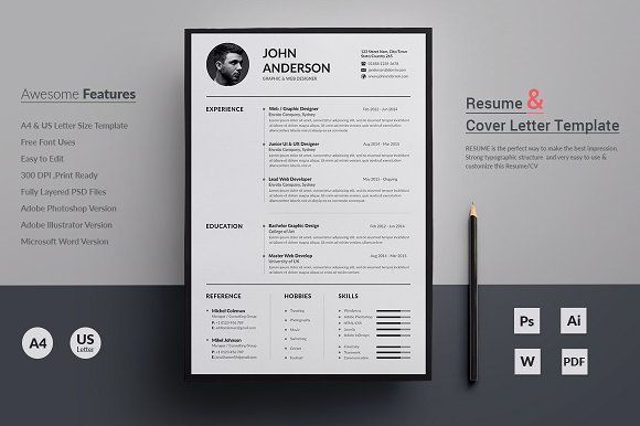 Resume/CV by deviserpark on @creativemarket Professional printable resume / cv cover letter template examples creative design and great covers, perfect in modern and stylish corporate business design. Modern, simple, clean, minimal and feminine style. Ready to print us letter and a4 layout inspiration to grab some ideas. In psd, indd, docs, ms word file format. #resume #cv #template #professional #word #modern #creative #design