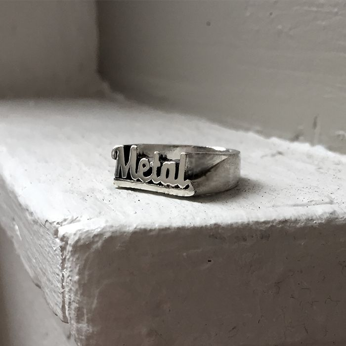 Metal Stackable Name Ring