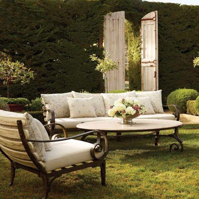 7 best Canapé en fer forgé images on Pinterest | Outdoor areas ...