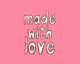 Crafting timbro - timbri di gomma - fatto con amore timbro - A121