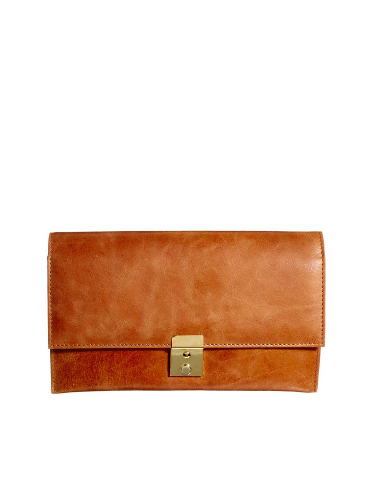VIDA Leather Statement Clutch - Moo Clutch by VIDA