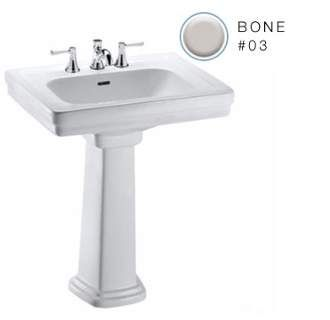 """View the Toto LPT530.8N Promenade 27-1/2"""" Pedestal Bathroom Sink with 3 Faucet Holes Drilled and Overflow - Pedestal Included at FaucetDirect.com."""