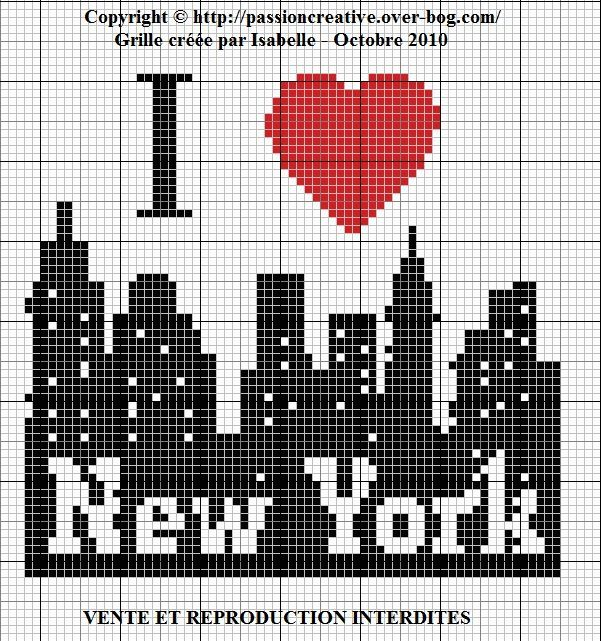 I Love New York perler bead pattern