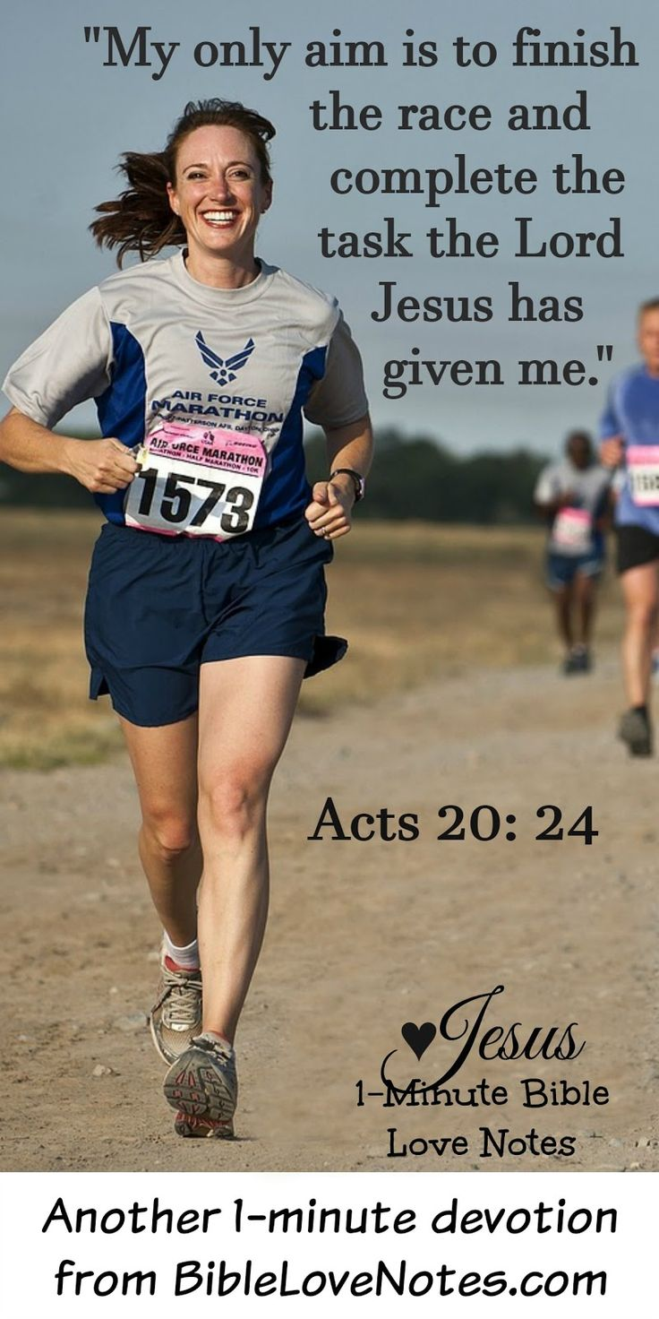 Faith is a Race - Our aim should be to run the race Christ has planned for us