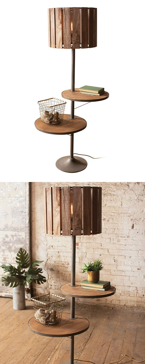 The Gansu Two-Shelf Floor Lamp is far from your average fixture. With two handy shelves, this gorgeous lamp is an ideal bedside addition or great for placing next to your favorite reading chair. Anchor...  Find the Gansu Two-Shelf Floor Lamp, as seen in the Rustic Minimalism In Portugal  Collection at http://dotandbo.com/collections/rustic-minimalism-in-portugal?utm_source=pinterest&utm_medium=organic&db_sku=122579