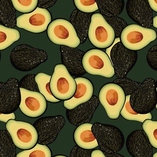 Avocado pattern art print amazingavocado holidayavocado