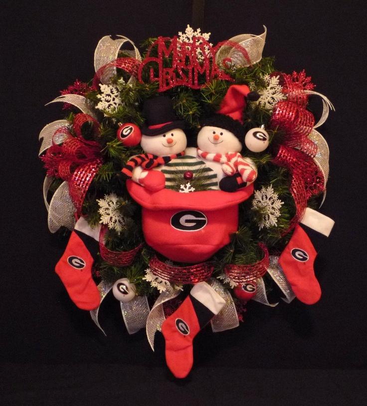 GA Bulldog Christmas Wreath -Ga Dawgs,