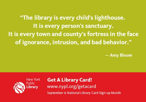 """The library is every child's lighthouse. It is every person's sanctuary. It is every town and county's fortress in the face of ignorance, intrusion and bad behavior.""  - Amy Bloom  It's Sunday, a great day to read the books you picked up at the library yesterday!: Book Rel, Libraries Cards, Libraries Librarians, Book Ish, Libraries Stuff, Cards Signup, Madame Librarians, Library Cards, Libraries Quotes"