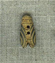 Bouton Cigale en corne Noire
