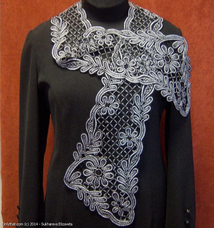 Scarf-collar - Vologda bobbin lace