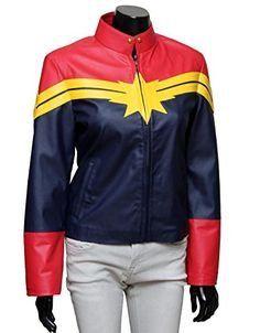 Carol Danvers Captain Marvel Leather Jackets For Sale   Captain Marvel Women's Jacket   Women Jackets For Sale (L)
