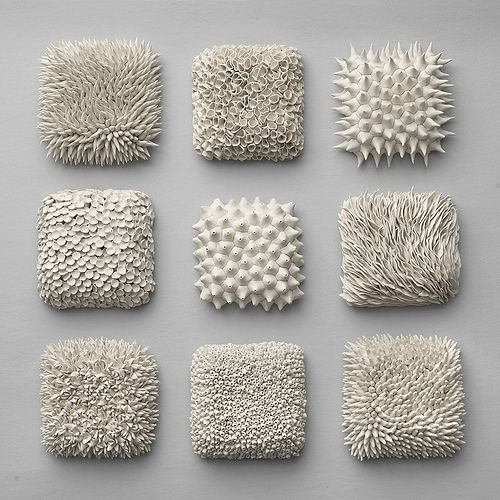 shows how different textures can be created using the same material, and each one of them would feel differently when you touch the surface.