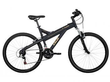 Bicicleta Caloi T-Type Mountain Bike Aro 26 - 21 Marchas Freio V-Brake c/ Suspensão Dianteira