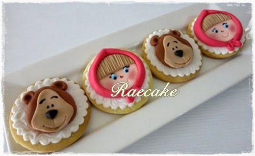 Masha and Bear Cookies | Kue Ulang Tahun, Birthday Cake,Cupcake, Cake | RaeCake