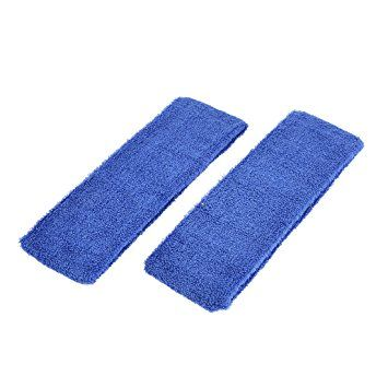 uxcell 2 Pcs Bathroom Spa Face Washing Elastic Headband Hair Band Royal Blue Review