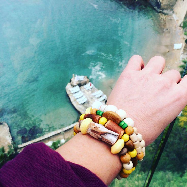 TiggTag arm party by the sea!! #agedwood #bracelet #jewelry #bijuterii #travel #bohochic #hippy #sea #cool #handcrafted #cute #love #handmadejewelry  #travelgirl #style #earthy #organic #tiggtagjewelry #tiggtag #orient