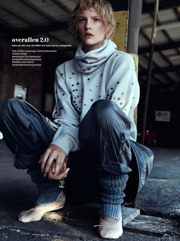 visual optimism; fashion editorials, shows, campaigns & more!: what a feeling: sara blomqvist by benjamin vnuk for elle sweden october 2014 stylist Lisa Lindqwister