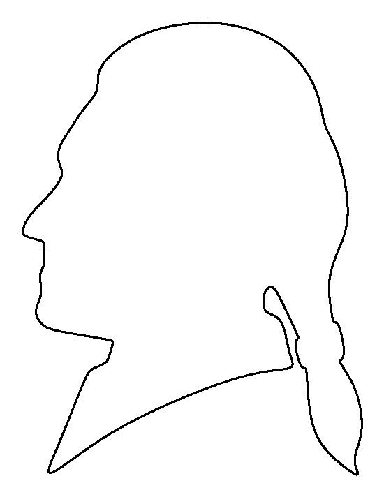 Thomas Jefferson pattern. Use the printable outline for crafts, creating stencils, scrapbooking, and more. Free PDF template to download and print at http://patternuniverse.com/download/thomas-jefferson-pattern/
