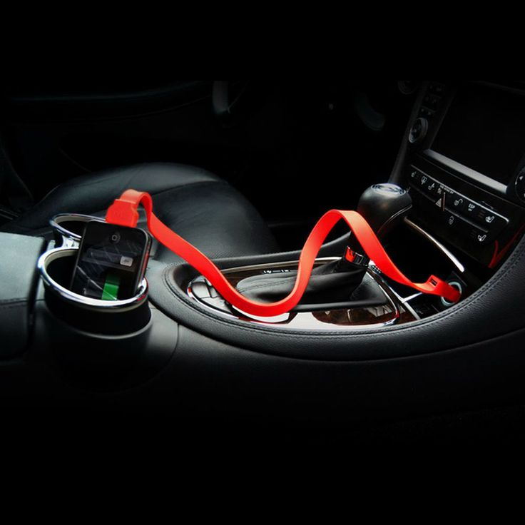This silicone car charger band powers two devices simultaneously and is guaranteed to be tangle-free!